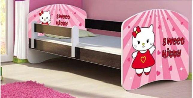 Łóżko dziecięce Hello Kitty wenge materac