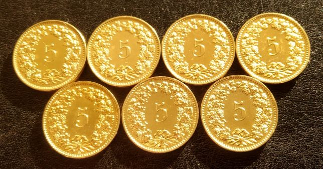 Коллекция монет Швейцария 5 раппенов