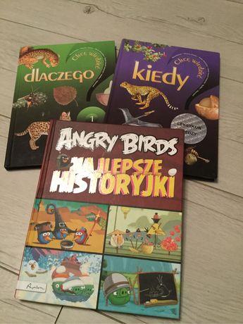 Angry Birds, Kiedy, Dlaczego- super ksiażki dla dzieci, 3 szt