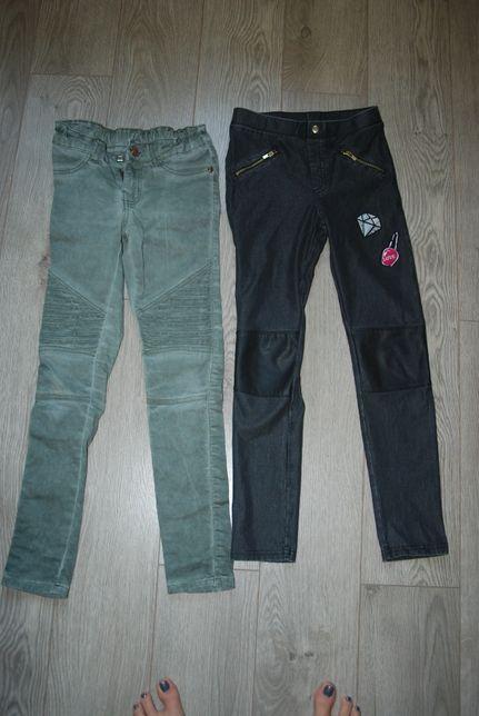 Dwie pary modnych spodni na dziewczynkę