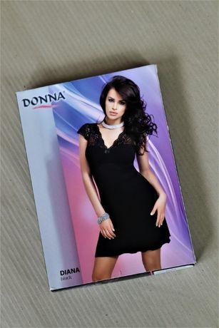Czarna koszulka nocna seksowna Donna Diana M nowa