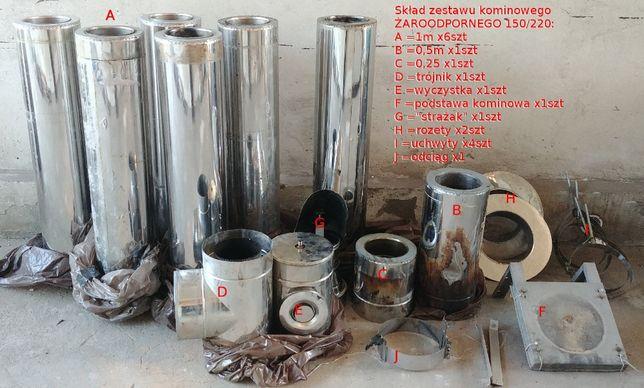 Zestaw kominowy izolowany 150x220 żaroodporny