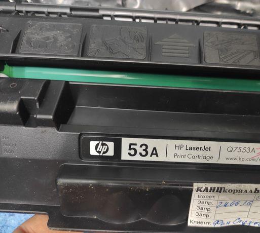 Картридж HP 53a, Q7553A. в идеальном состоянии.