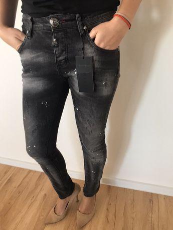 Jeansy Plein S spodnie czarne