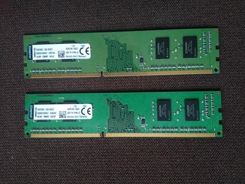 Pamięć RAM 4GB (2x2gb) 1600 Mhz CL11 Kingston
