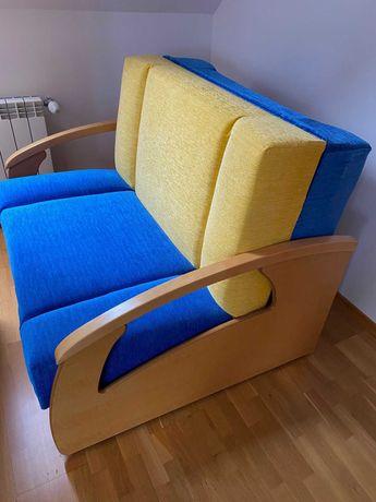 Lozko rozkladane, foteliki