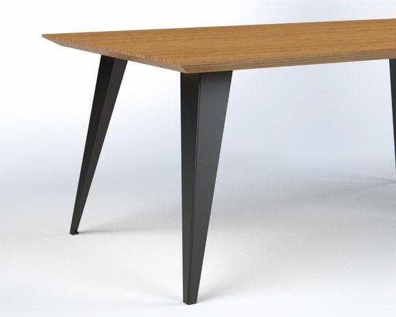 Nogi do stołu skośne, loft, industrial, pod blat drewniany