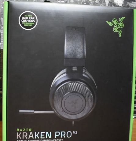 Razer kraken Pro V.2 черный в коробке с документами и чеком