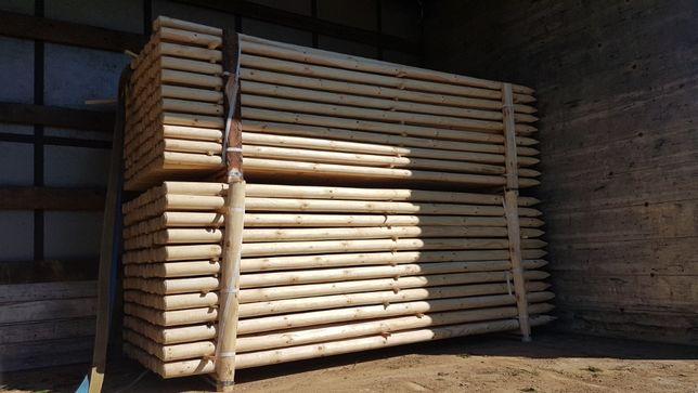 Paliki toczone 5x250 6x250 ,Słupki,Kołki,Tyczki -do drzewek,ogrodzeni