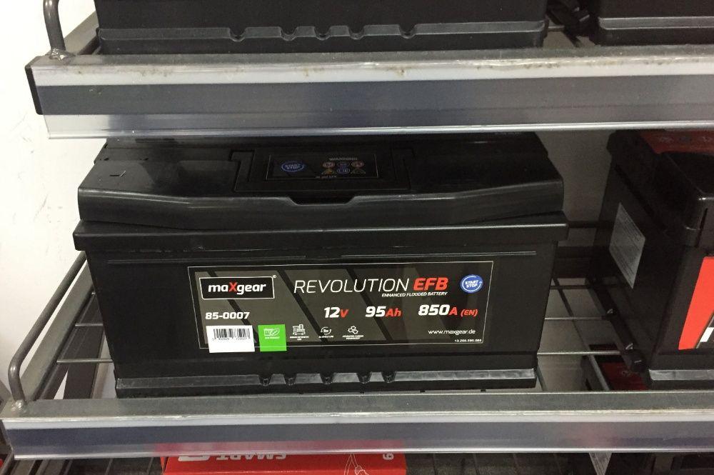 Akumulator maXgear REVOLUTION EFB Start-Stop 12V 95Ah 850A P+ Kraków - image 1