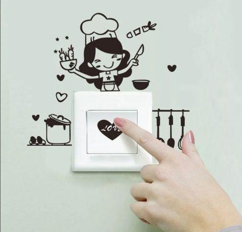 Naklejka na kontakt w kuchni PCV