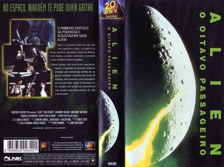 Filmes em VHF - Cassetes de compra - Quatro filmes da saga Alien