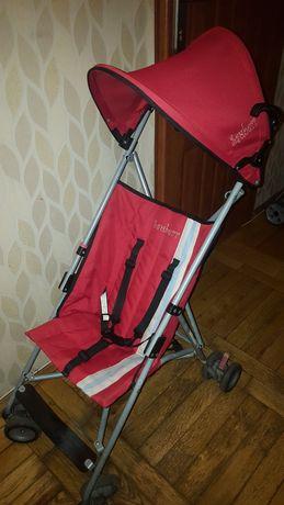 Wózek czerwony  parasolka