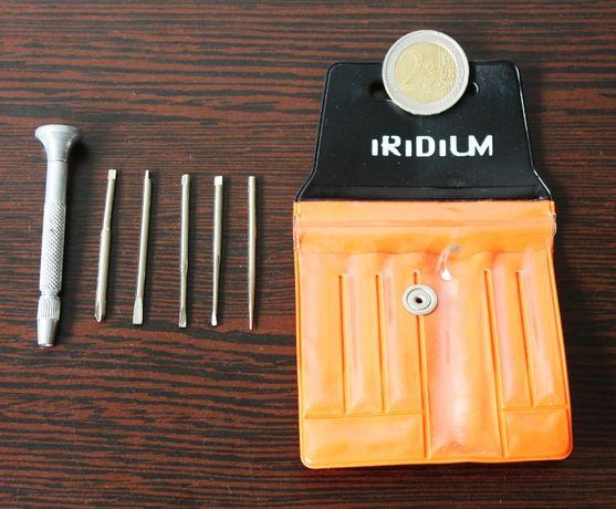 Kit de chaves de precisão em aço com bolsa da Iridium