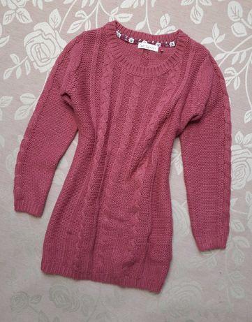 Długi sweter/tunika dziewczęca r. 128 Cool Club