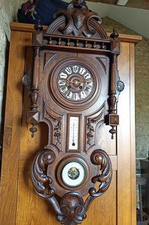 Stary zegar wiszący,stacja pogody