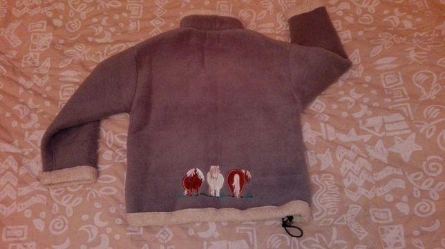 Bluza polarowa z konikami