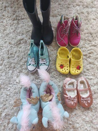 Zestaw 6 par buciki buty dla dziewczynki H&M Zara Fila