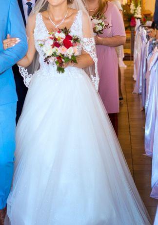 Suknia ślubna rozm 38/M/L biel/ivory