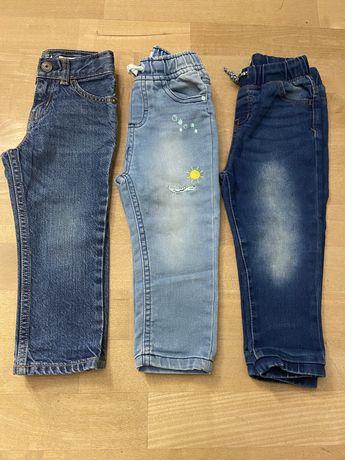 Spodnie jeansy chlopiece 92