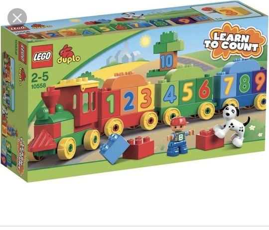 Lego duplo pociag z cyferkami 10598