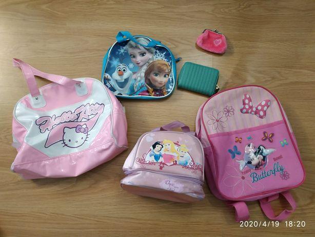 Conjunto de malas, lancheira e mochilas