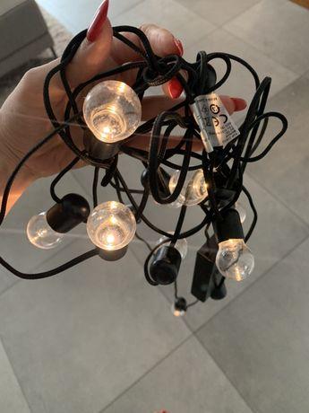 Girlanda LED lampki Ikea svartra 12 lampek