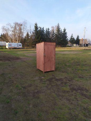 Narzędziownia drewniana skrytka domek schowek do narzędzi ogrodowy