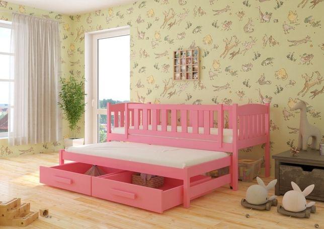 Hania łóżko drewniane dziecięce. Rozmiary i kolory. DREWNO 100%