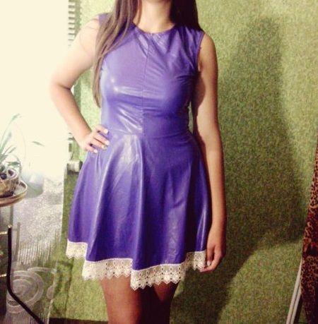 Продам платье с Экокожи