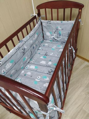 Бортики защита в детскую кроватку