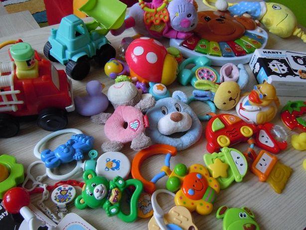 Zabawki dla maluszka, grzechotki, gryzaki, lalki, auta, pluszowe itd