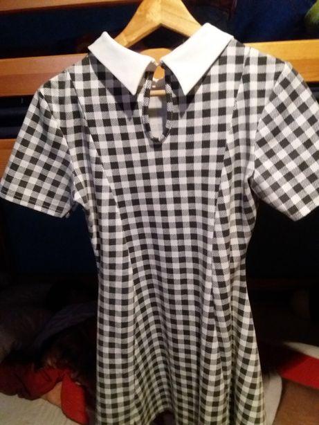 Sukienka bawełna kratka 40