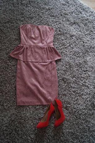 sukienka pudrowy róż Pretty Girl
