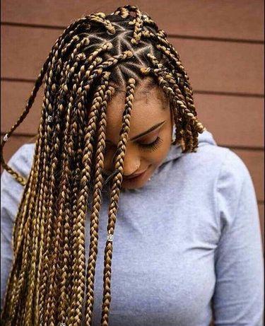Плетение канекалона, се косы, де косы, африканские косички, косы с кан