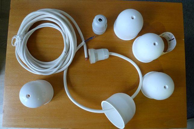Electricidade, cabos, casquilhos etc