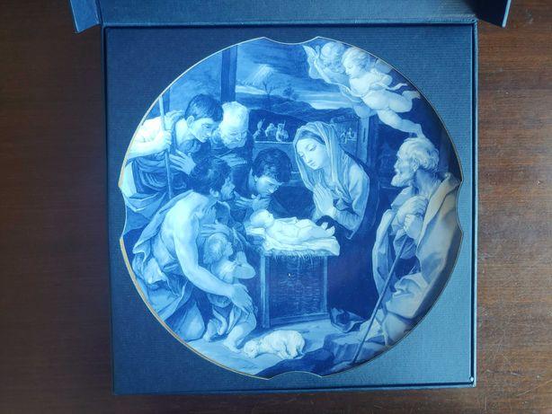 """Prato Natal 2003 Guido Reni """"Adoraçao dos Pastores"""""""