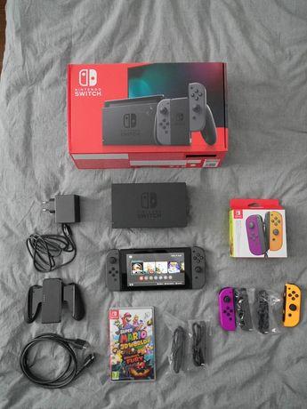 Nintendo Switch V2 + drugi Joy-Con + gra ZESTAW