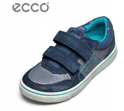 buty sneakersy ECCO GLYDER na rzepy 33 skóra naturalna stan bdb+