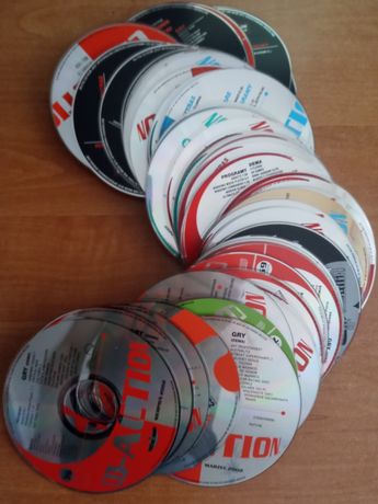 płyty CD z pism komputerowych cd action gambler pc world chip enter