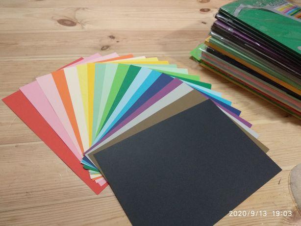Кольоровий папір А4. Набір spectra color