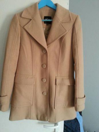Płaszcz wełniany francuskiej marki bgn rozm 36