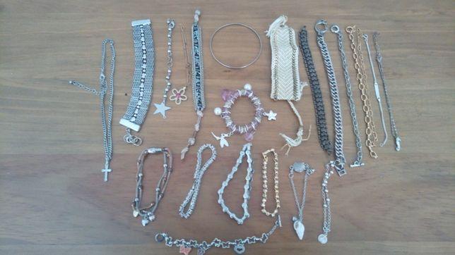 Pulseiras, várias em bijuteria