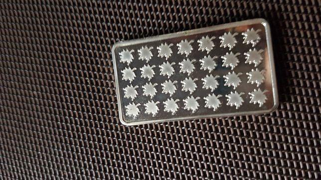 Srebrna Przywieszka blacha 31 gram próba srebra 999. Okazja .Zawieszka