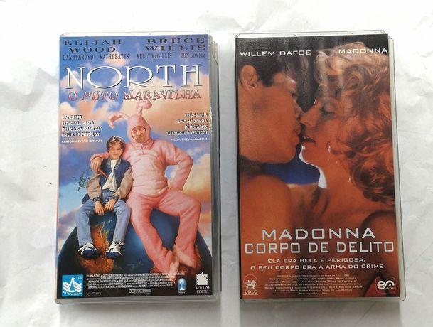 """""""Madonna, corpo de delito"""" e """"North o puto maravilha"""" - VHs"""
