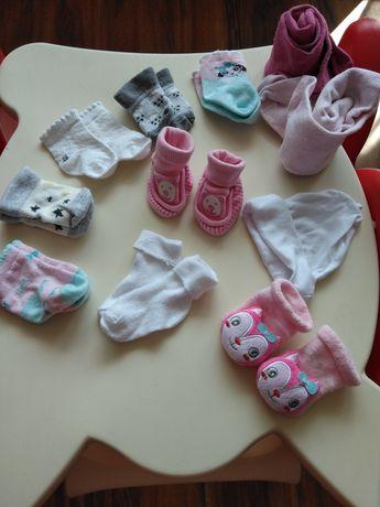Skarpetki dla noworodka wyprawka