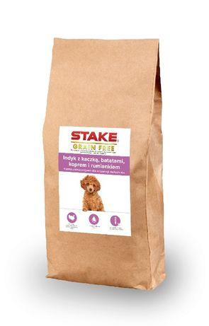 STAKE karma dla szczeniaków małych ras Grain Free 60% indyk/kaczka 2kg