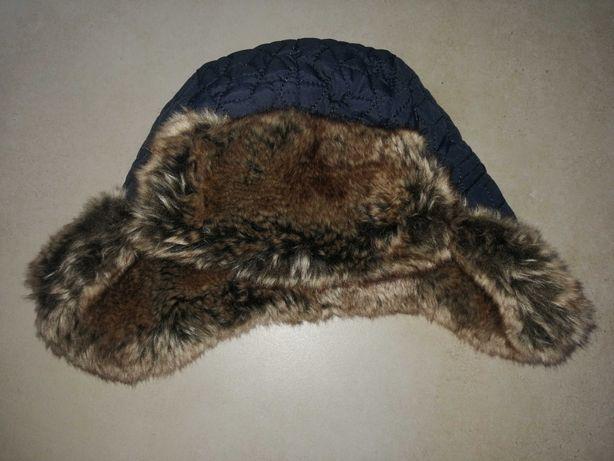 Czapka/ czapeczka zimowa uszatka F&F r. 6-12 m-cy