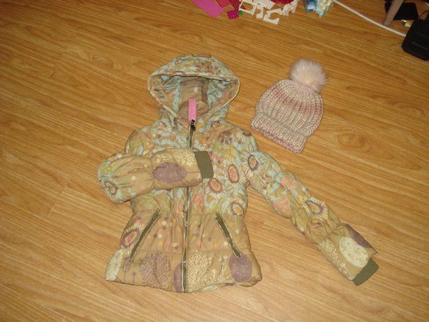 Куртка курточка детская осень-зима Cake Walk 7-8лет шапка детская TY