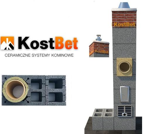 Komin Systemowy fi 200mm 6m KIIW+IIW